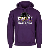 Purple Fleece Hood-Track & Field