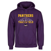 Purple Fleece Hood-Track & Field Design