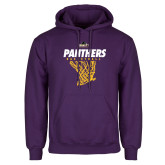 Purple Fleece Hood-Basketball Design