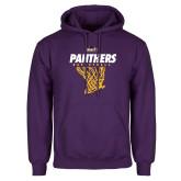 Purple Fleece Hood-Basketball Design