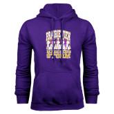 Purple Fleece Hoodie-Praire View marching Storm w/ Majors