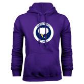 Purple Fleece Hoodie-Marching Storm Cloud Circle