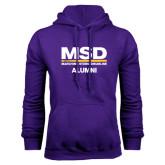 Purple Fleece Hood-MSD Alumni
