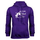 Purple Fleece Hoodie-Future Black Fox