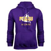 Purple Fleece Hoodie-Twirling Thunder Alumni
