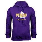 Purple Fleece Hoodie-Twirling Thunder Grandpa