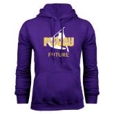 Purple Fleece Hoodie-Future Twirling Thunder