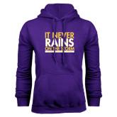 Purple Fleece Hoodie-It Never Rains On The Storm