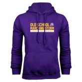Purple Fleece Hoodie-Old School w/ Cloud