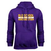 Purple Fleece Hoodie-Old School Marching Storm Stacked