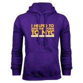 Purple Fleece Hoodie-The Storm To NYC Stacked
