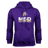 Purple Fleece Hoodie-MSD w/ PVAM Logo