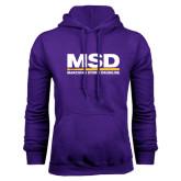 Purple Fleece Hood-MSD