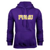 Purple Fleece Hoodie-PVAMU Twirling Thunder Overlap
