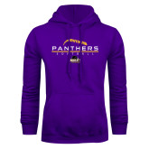 Purple Fleece Hood-Softball Design