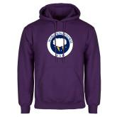 Purple Fleece Hoodie-Marching Storm Cloud Circle - Fan