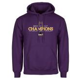 Purple Fleece Hoodie-2018 Mens Golf Champions