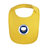 Yellow Baby Bib-Marching Storm Cloud Circle
