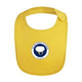Yellow Baby Bib-Marching Storm Cloud Circle - Fan