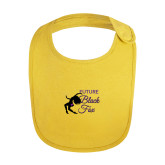 Yellow Baby Bib-Future Black Fox