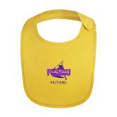 Yellow Baby Bib-Future Twirling Thunder
