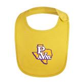Yellow Baby Bib-PVAM Texas