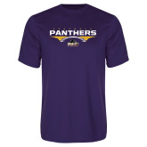 Performance Purple Tee-Football Design