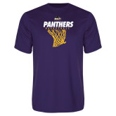Performance Purple Tee-Basketball Design