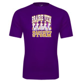 Performance Purple Tee-Praire View marching Storm w/ Majors