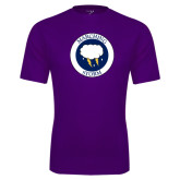 Syntrel Performance Purple Tee-Marching Storm Cloud Circle