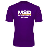 Syntrel Performance Purple Tee-MSD Alumni