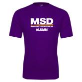 Performance Purple Tee-MSD Alumni