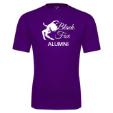 Syntrel Performance Purple Tee-Black Fox Alumni