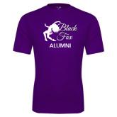 Performance Purple Tee-Black Fox Alumni