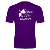 Performance Purple Tee-Black Fox Grandpa