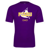 Performance Purple Tee-Twirling Thunder Dad
