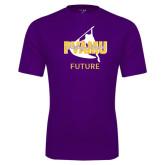 Performance Purple Tee-Future Twirling Thunder