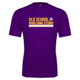 Performance Purple Tee-Old School w/ Cloud