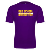 Performance Purple Tee-Old School Marching Storm Stacked