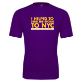 Performance Purple Tee-The Storm To NYC Stacked