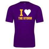 Performance Purple Tee-I Heart The Storm