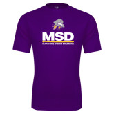 Performance Purple Tee-MSD w/ PVAM Logo