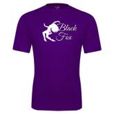 Syntrel Performance Purple Tee-Black Fox Logo