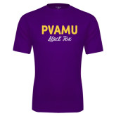 Syntrel Performance Purple Tee-PVAMU Black Fox Script