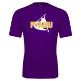 Syntrel Performance Purple Tee-PVAMU Twirling Thunder Logo