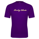 Syntrel Performance Purple Tee-PVAMU Twirling Thunder Logo