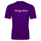 Performance Purple Tee-PVAMU Twirling Thunder Logo
