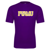 Syntrel Performance Purple Tee-PVAMU Twirling Thunder Overlap