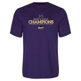 Performance Purple Tee-2018 Mens Golf Champions