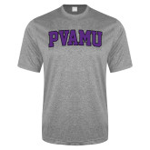Performance Grey Heather Contender Tee-Arched PVAMU